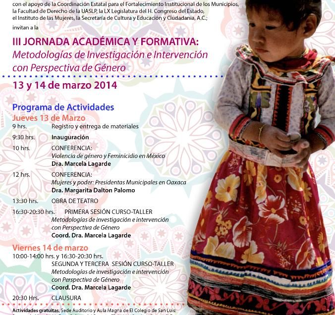 Marcela  Lagarde dicatará conferencia magistral