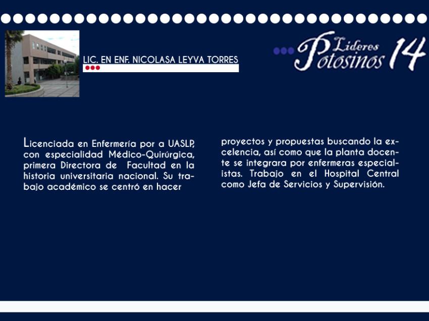Lic. en Enf. Nicolasa Leyva Torres