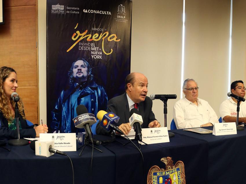 Presentó UASLP nueva temporada de sábados de Ópera, a proyectarse en el  Bicentenario.