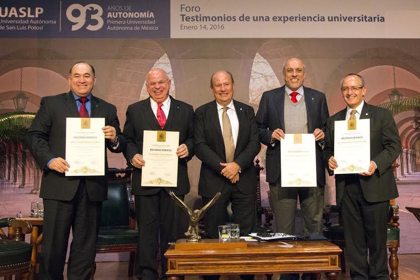 """Celebra la UASLP 93 años de autonomía con el foro """"Testimonios de Una Experiencia Universitaria"""""""