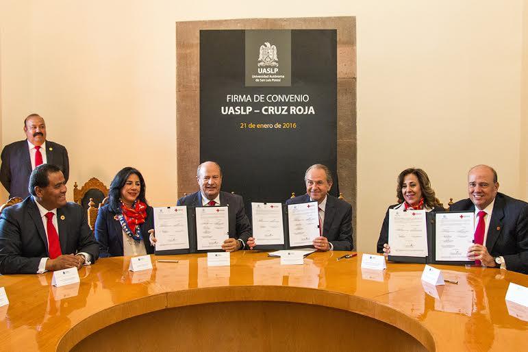 La Cruz Roja capacitará al personal de la UASLP.