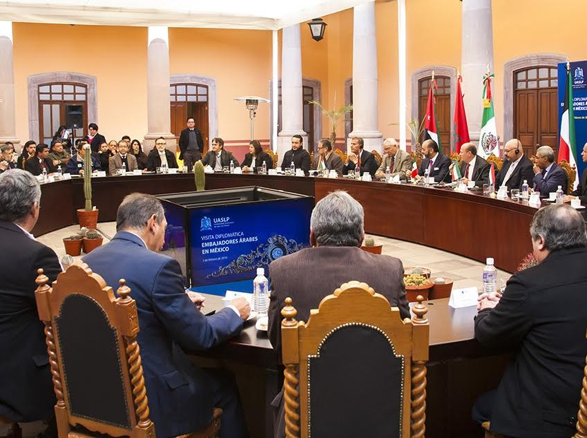 La Universidad Autónoma recibió a cuatro embajadores Árabes