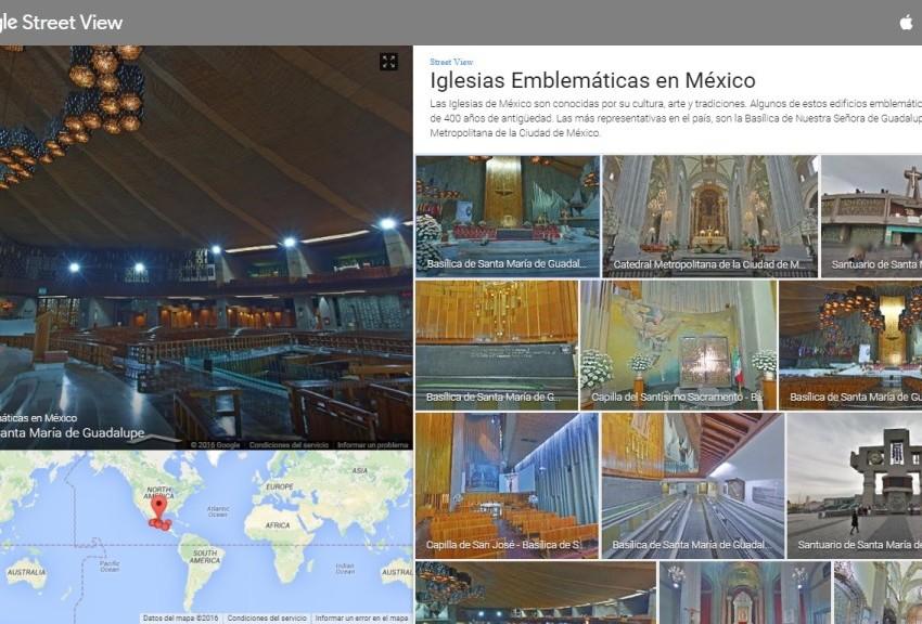 Google permitirá recorrer virtualmente las iglesias que visitará papa Francisco