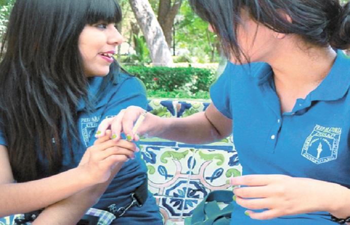 El consumo de tabaco entre los jóvenes de secundaria es entre los 13 y 17 años