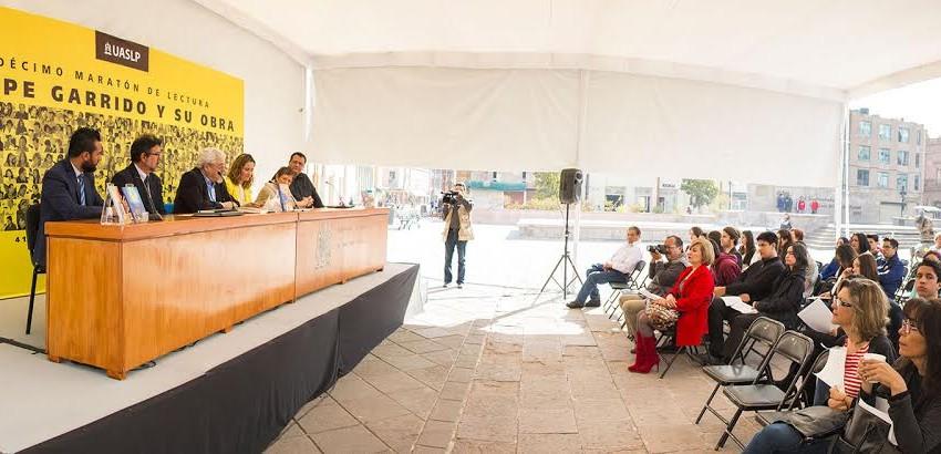 En la UASLP Décimo Maratón de Lectura en honor a Felipe Garrido