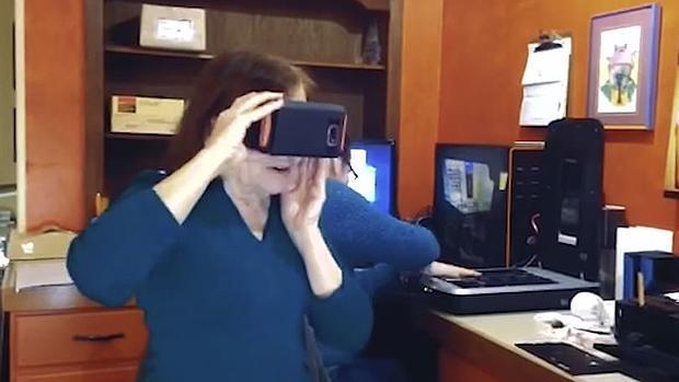 Realidad virtual devuelve la vista a mujer