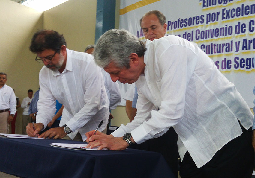 Firma de convenio COBACH-Secretaria de Cultura
