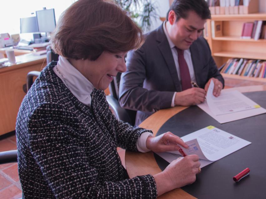 Firman COLSAN y COESPO  convenio de Colaboración Académica