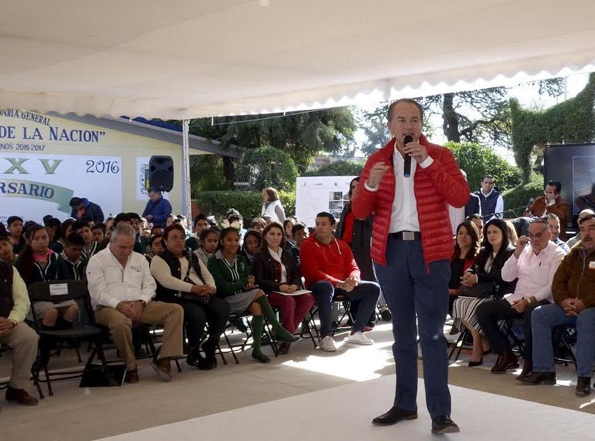 JM Carreras inaugura obras educativa en zona metropolitana por 13.1 mdp