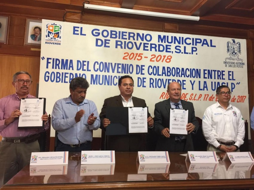 UASLP signó convenio de colaboración con ayuntamientos de la zona media de SLP
