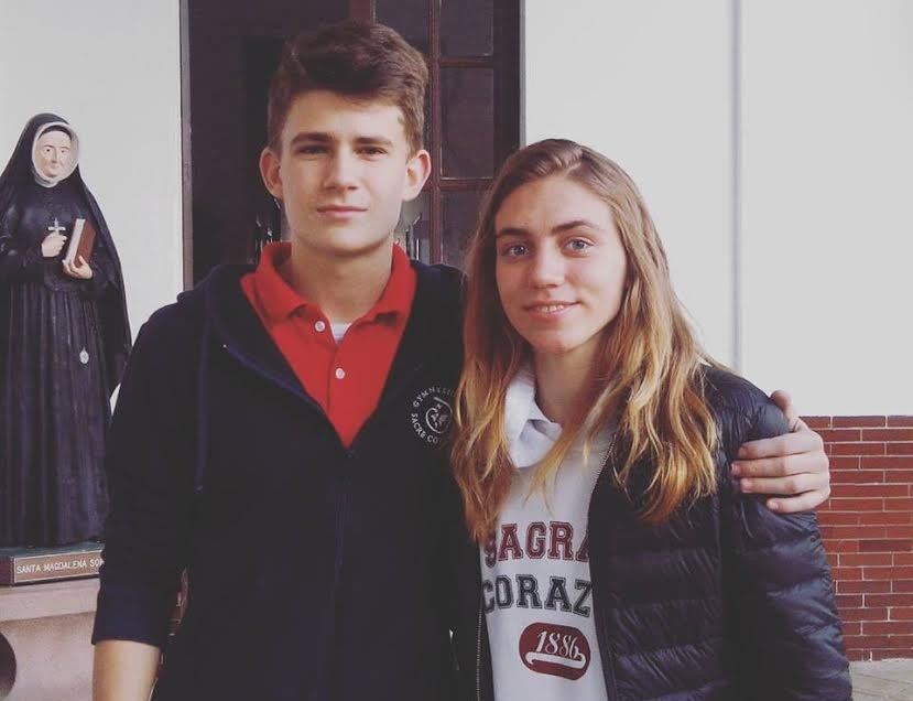 Alumnos de Austria y Missouri visitan el Colegio Sagrado Corazón
