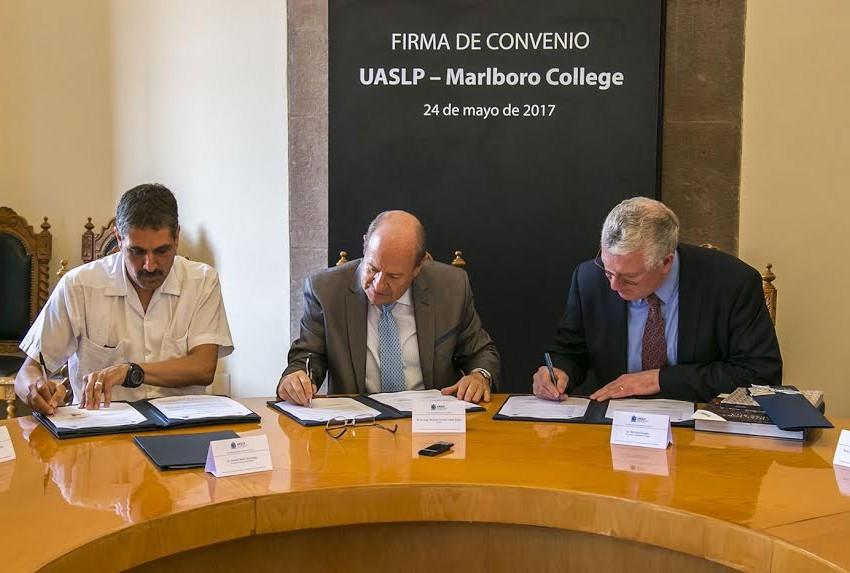 UASLP signa convenio con Universidad de Marlboro College