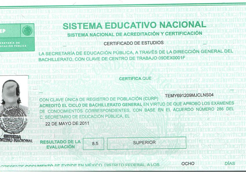 Refuerzan medidas de seguridad en certificados escolares