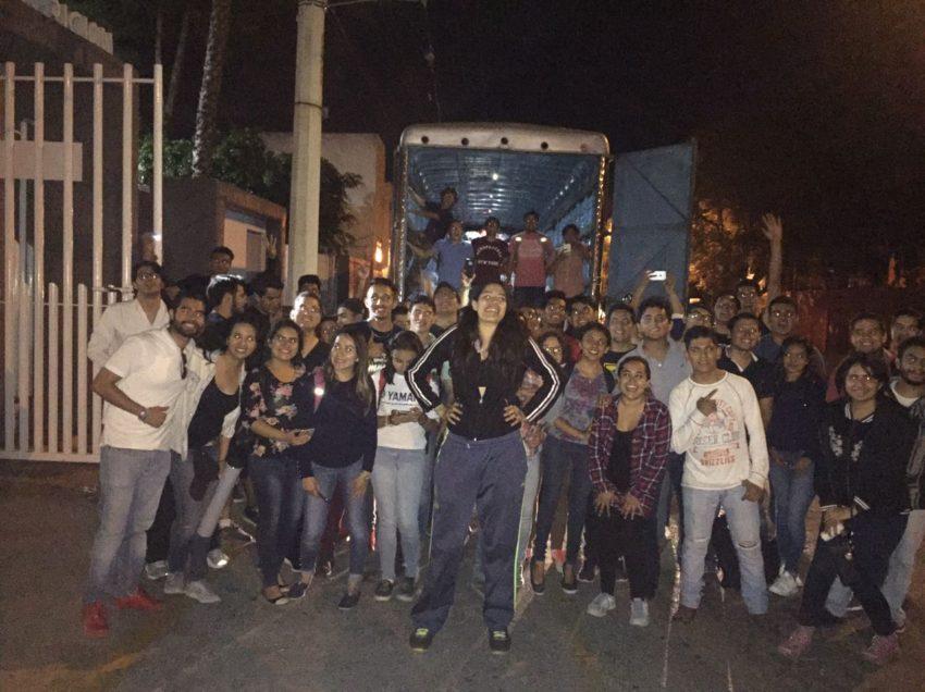 Alumnos de la UASLP llevan ayuda a damnificados por sismo (GALERIA EXCLUSIVA)