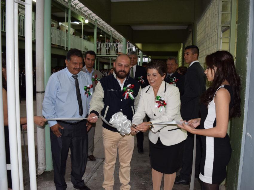 Inauguran obras en la preparatoria francisco Martínez de la Vega del SEER