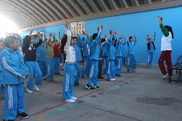 Inpode lleva a escuela Morelos de Soledad su programa Muévete Escolar
