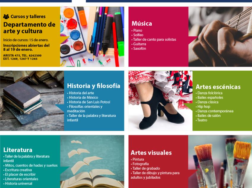 UASLP invita a conocer sus cursos y talleres