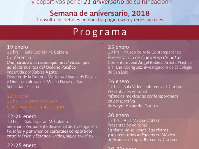 Conmemora el Colsan su 21 aniversario