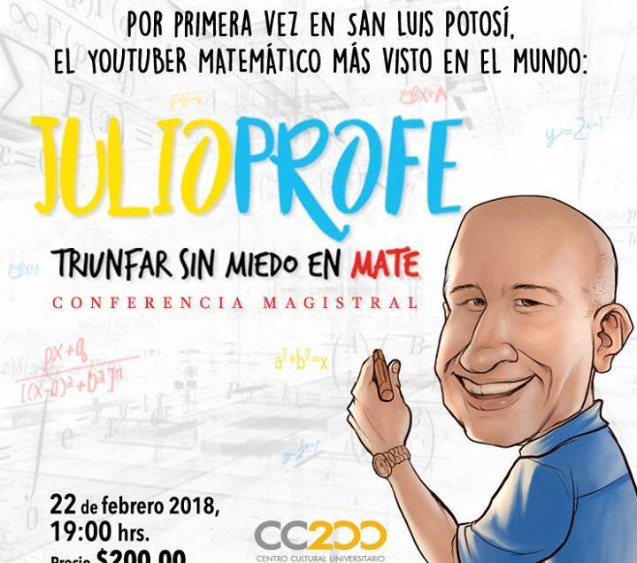 El youtuber mas popular de las matemáticas, llega a San Luis Potosí