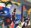 Develan mural en la Universidad Intercultural
