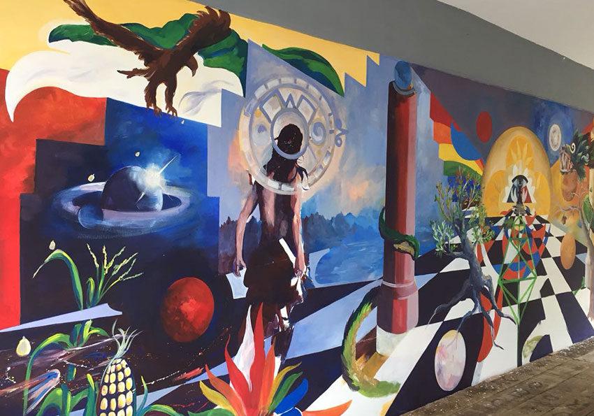 Develan mural en la Universidad Intercultural