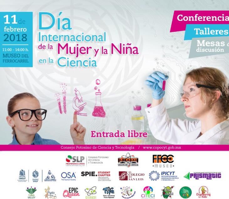 Invita el COPOCYT a celebrar el Día internacional de la mujer y la niña en la ciencia