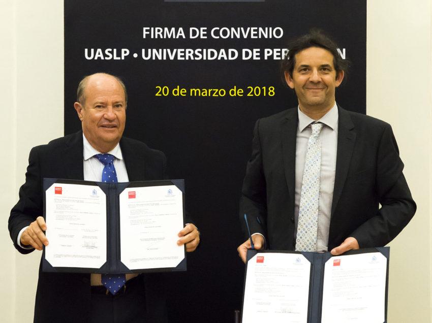 Universidad francesa Perpignan establece lazos de cooperación internacional con la UASLP