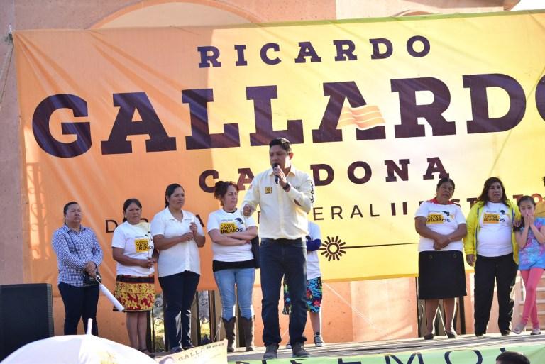 Villa de Arriaga no debe tener miedo al cambio: Ricardo Gallardo Cardona