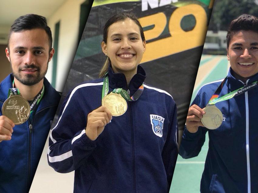 Dos oros y una plata para estudiantes potosinos en la Universiada Nacional