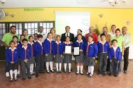 """Ayuntamiento certificó como """"Escuela Ecológicamente Comprometida"""" al Instituto Bilingüe Crealid"""