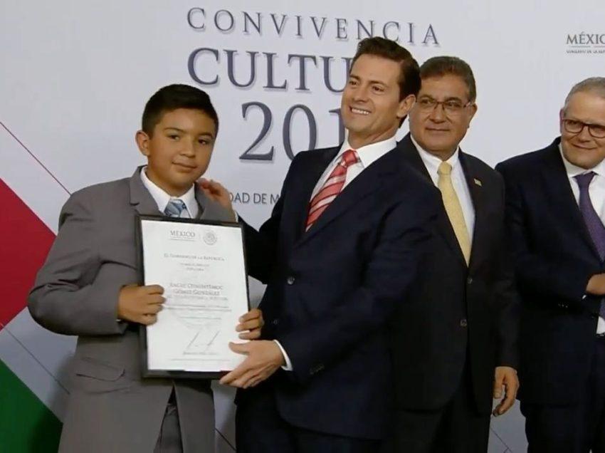 Alumno potosino obtiene segundo lugar nacional en la olimpiada del conocimiento infantil 2018