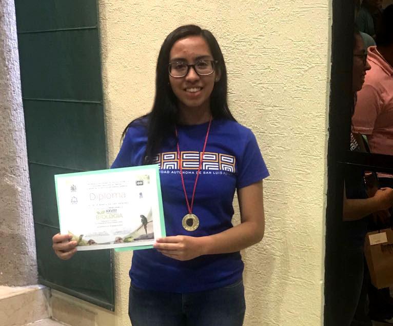 Alumna de la EPM logra el tercer lugar en la olimpiada estatal de biología