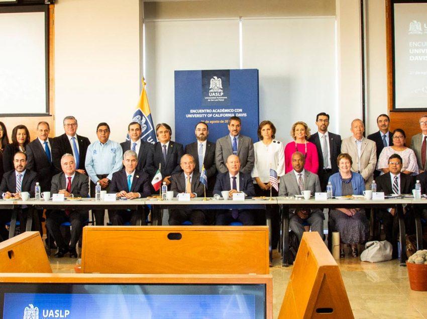 UASLP sostiene encuentro académico con la Universidad de California Davis