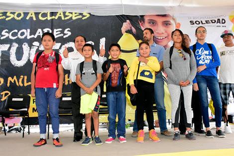 Entregarán 30mil mochilas con útiles escolares en Soledad