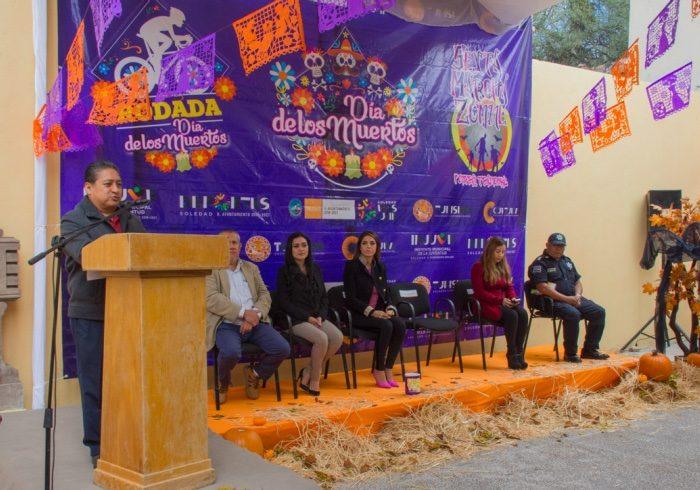 Presentan el festival de Día de muertos en Soledad