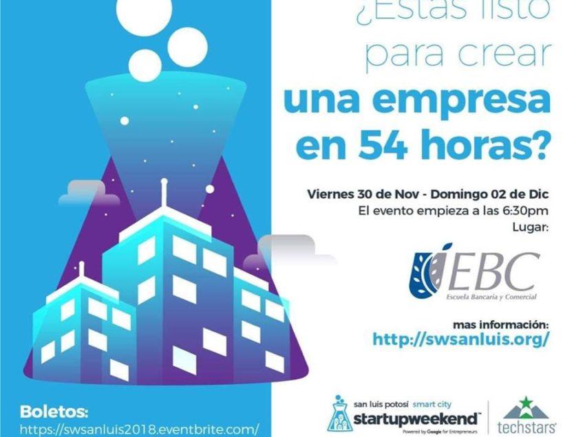 Invitan al Startup Weekend San Luis Potosí Smart Cityen la EBC