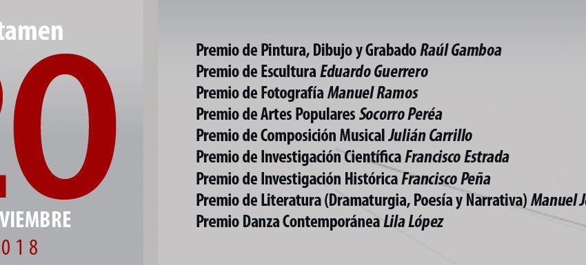 Obtienen reconocimientos catedráticos y alumnos de la UASLP en Certamen 20 de noviembre 2018