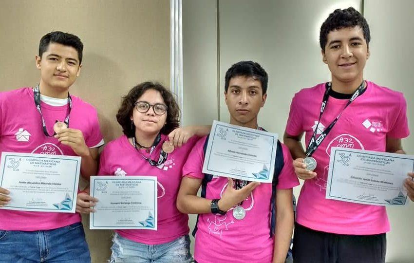 Alumnos del Cobach logran plata y bronce en Olimpiada Nacional de Matemáticas