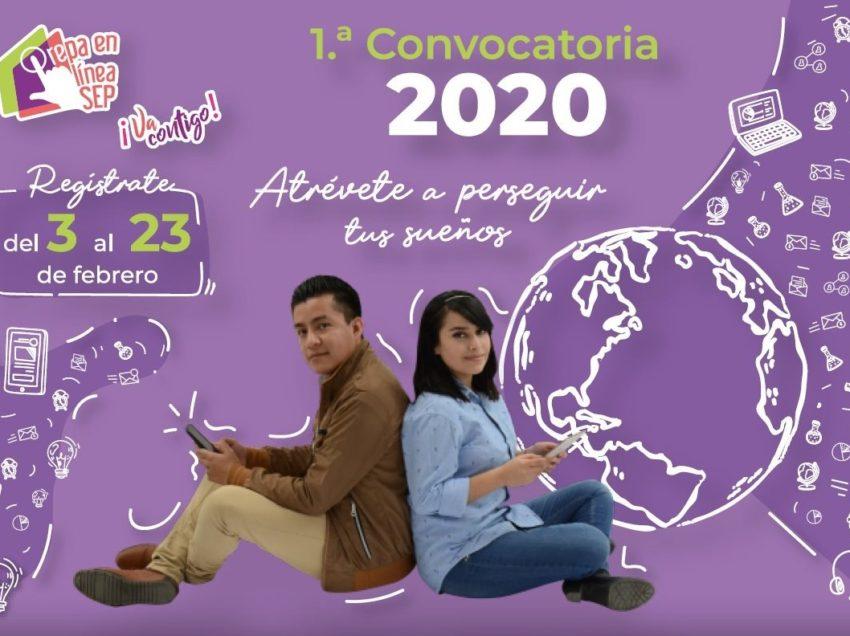 SEGE invita a participar en la primera convocatoria 2020 para prepa en línea-sep