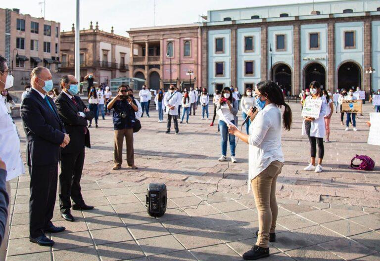 Atienden autoridades de la UASLP peticiones de alumnos de la Facultad de Agronomía y Veterinaria