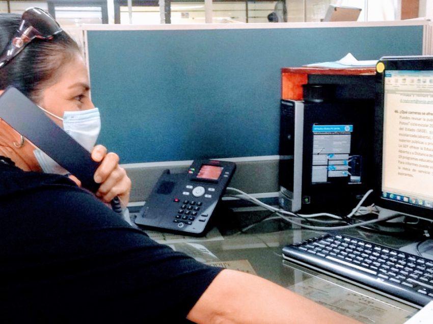 Instala SEGE centro de atención telefónica para padres de familia, alumnos y docentes