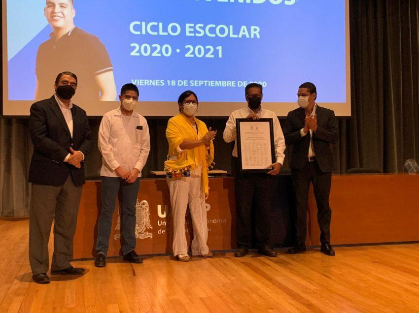 Rector UASLP encabeza bienvenida al ciclo escolar 2020-21 en campus de Rioverde y Valles
