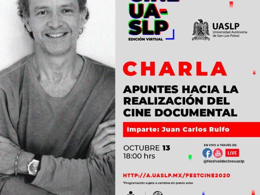 Juan Carlos Rulfo ofrecerá charla virtual en del 3º Festival de Cine de la UASLP